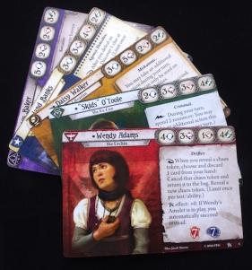 Arkham Horror: The Card Game - Investigator cards
