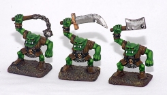 Orcs from Heroquest, the first figures I painted