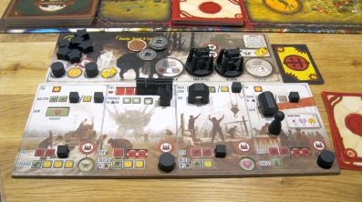 Scythe - Player boards in action