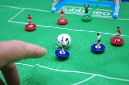 Subbuteo - Run up, or miss kick?