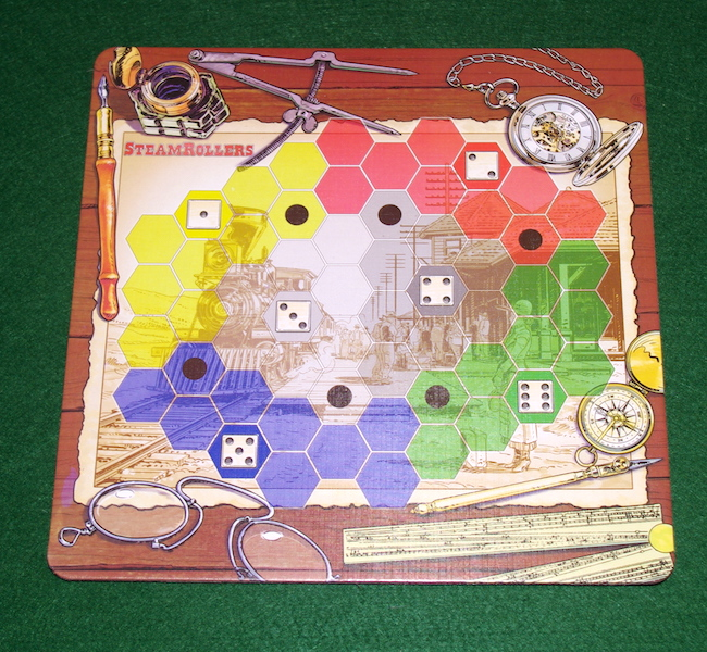 Steamrollers - playing board