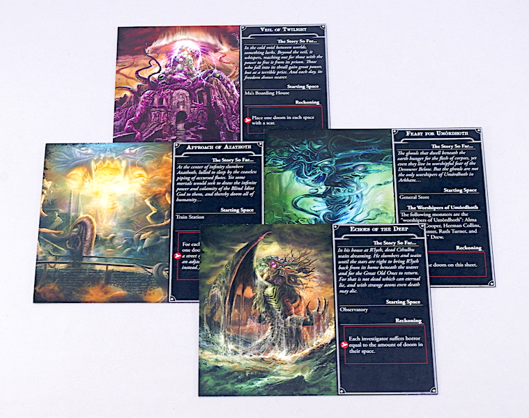 Arkham Horror 3rd Edition - Scenario cards