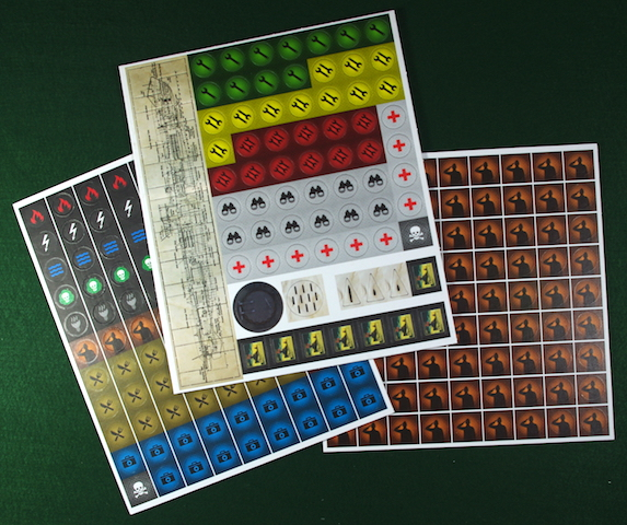 U-Boot The Board Game - Punchboards