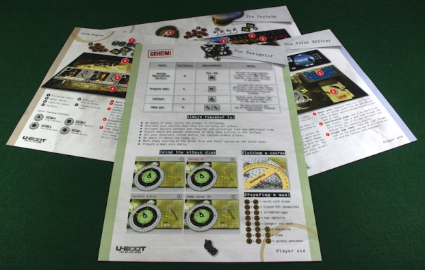 U-Boot The Board Game - Player Aids