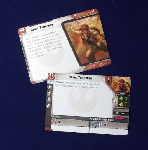 Rebel Troopers - Unit Card