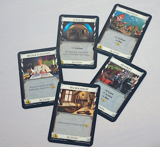 Dominion Second Edition - Example Action cards