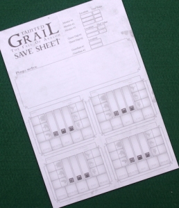 Tainted Grail: The Fall of Avalon - save sheets