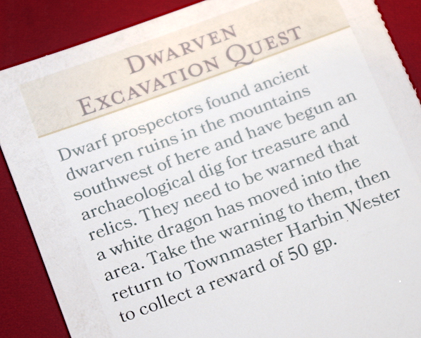 Dwarven Excavation Quest