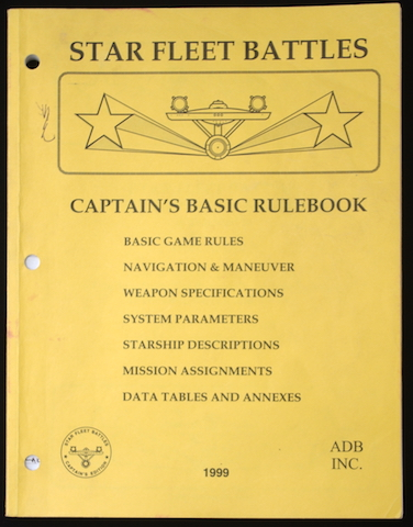Star Fleet Battles - Captain's Basic Rulebook