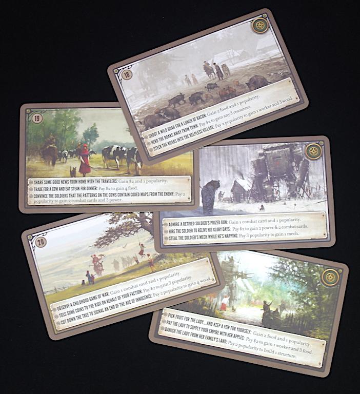 Scythe - Encounter cards