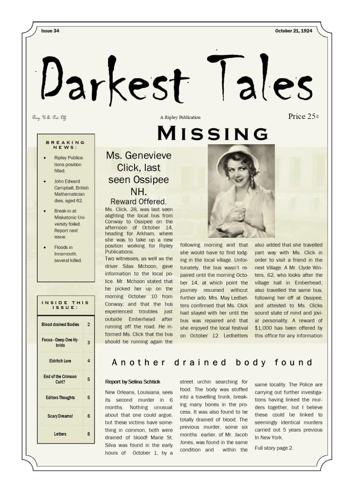 Darkest Tales Cover oct 21
